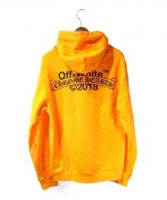 CHROME HEARTS × OFF WHITE(クロムハーツ × オフホワイト)の古着「プルオーバーパーカー」|オレンジ