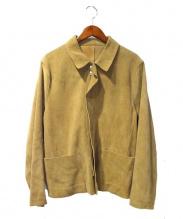Sandro(サンドロ)の古着「レザージャケット」|キャメル
