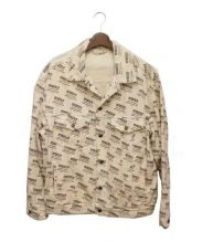 GUCCI(グッチ)の古着「スタンプデニムジャケット」|ベージュ