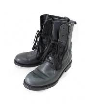 BALMAIN(バルマン)の古着「ダブルジップレースアップレザーブーツ」|ブラック