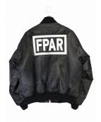 FPAR(フォーティーパーセンツ アゲインストライツ)の古着「MA-1ジャケット」 ブラック