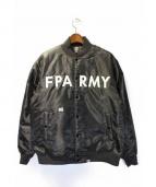 FPAR(フォーティーパーセンツ アゲインストライツ)の古着「ブルゾン」 ブラック