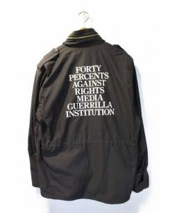 FPAR(フォーティーパーセントアゲインストライツ)の古着「M65ジャケット」|ブラック