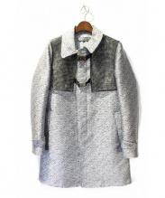 ANREALAGE(アンリアレイジ)の古着「ノイズ柄ビニールドッキングコート」|グレー