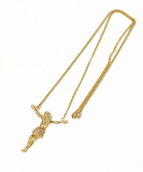 GOLDEN GILT(コールデンギルト)の古着「ジェーザスネックレス」|ゴールド
