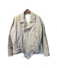 READYMADE(レディメイド)の古着「モーターサイクルジャケット」|アイボリー