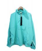 MNML(ミニマル)の古着「ハーフジップトラックジャケット」|ターコイズ
