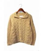 INVERALLAN(インバーアラン)の古着「カシミヤニットジャケット」|ベージュ