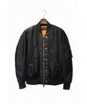 DIESEL BLACK GOLD(ディーゼル ブラック ゴールド)の古着「MA-1ジャケット」|ブラック