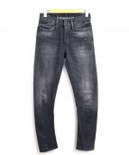 DENHAM(デンハム)の古着「スキニーデニムパンツ」 グレー
