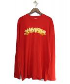 SUPREME(シュプリーム)の古着「Tシャツ」 レッド