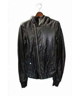 RICK OWENS(リックオウエンス)の古着「レザージャケット」 ブラック
