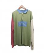 LIAM HODGES(リアムホッジス)の古着「長袖ポロシャツ」|カーキ