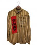 PEEL&LIFT(ピールアンドリフト)の古着「アナーキーシャツ」 ブラウン