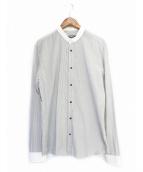 BALMAIN(バルマン)の古着「ストライプシャツ」|グレー