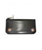 GOCHIC YOHJI YAMAMOTO(ゴシックヨウジヤマモト)の古着「二つ折り長財布」|ブラック