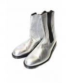 BALMAIN(バルマン)の古着「サイドゴアメタリックブーツ」|シルバー