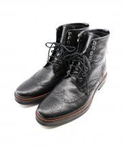 COACH(コーチ)の古着「ウィングチップブーツ」|ブラック