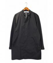 N.HOOLYWOOD × MOUNTAIN HEAD WEAR(エヌハリウッド x マウンテンヘッドウェアー)の古着「ステンカラーコート」|ブラック