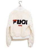 FENDI×FILA(フェンディ×フィラ)の古着「18AW/リバーシブルミンクファージャケット」|ホワイト