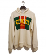 GUCCI(グッチ)の古着「DAPPER DAN/GUCCIロゴパーカー」|ベージュ