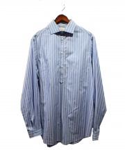 GUCCI(グッチ)の古着「オーバーサイズコットンストライプシャツ」|ネイビー