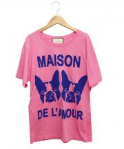 GUCCI(グッチ)の古着「Bosco & Orso Maison de lAmour/」|ピンク
