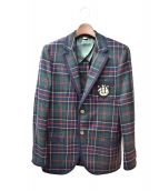 GUCCI(グッチ)の古着「モナコタータンカシミヤジャケット」|グリーン