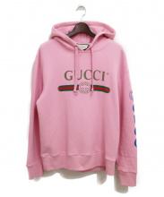 GUCCI(グッチ)の古着「ドラゴン刺繍パーカー」|ピンク