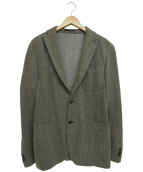 BOGLIOLI(ボリオリ)の古着「ソフツイードソリッドジャケット」|グレー