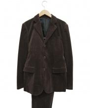 Mr.GENTLEMAN(ミスタージェントルマン)の古着「コーデュロイセットアップスーツ」|ブラウン
