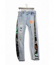 GALLERY DEPT(ギャラリーデプト)の古着「リメイクデニムパンツ」|インディゴ