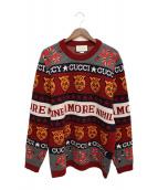 GUCCI(グッチ)の古着「19クルーズ シンボル ウール ジャカード セーター」