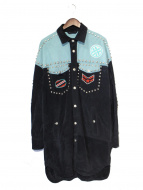 DIESEL BLACK GOLD(ディーゼル ブラック ゴールド)の古着「スタッズスエードウエスタンロングジャケット」