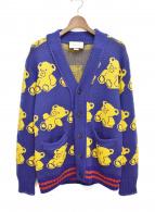 GUCCI(グッチ)の古着「Teddy bear jacquard cardigan」