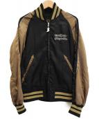 Hysteric Glamour(ヒステリックグラマー)の古着「バイクガールサテンジャケット」|ブラック