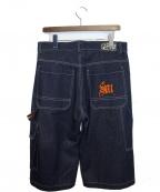 SELF MADE(セルフメイド)の古着「デニムハーフパンツ」|インディゴ