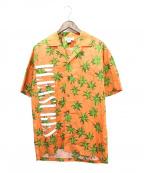 PLEASURES(プレジャーズ)の古着「アロハシャツ」 オレンジ