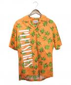 PLEASURES(プレジャーズ)の古着「PALM TREE HAWAIIAN SHIRT」 オレンジ