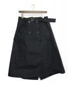 RAF SIMONS(ラフシモンズ)の古着「トレンチスカート」|ネイビー