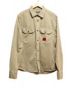 Calvin Klein Jeans(カルバンクラインジーンズ)の古着「シャツジャケット」 ベージュ