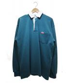 Battenwear(バテンウェア)の古着「ラガーシャツ」 ネイビー