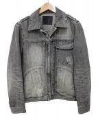 BACKLASH(バックラッシュ)の古着「デニムジャケット」|グレー