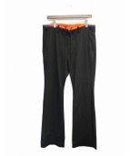 FACETASM(ファセッタズム)の古着「スラックスパンツ」|ブラック