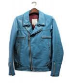 UNDERCOVER(アンダーカバー)の古着「ライダースジャケット」|ターコイズ