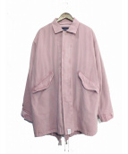 DESCENDANT(ディセンダント)の古着「18AW CRICKET TWILL JACKET」|ピンク
