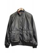 Hysteric Glamour(ヒステリックグラマー)の古着「PUレザージャケット」|ブラック