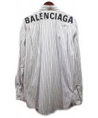 BALENCIAGA(バレンシアガ)の古着「19SS/バックロゴストライプシャツ」