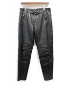 UNUSED(アンユーズド)の古着「スターワッペンレザーパンツ」|ブラック
