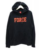 NIKE(ナイキ)の古着「AIR FORCE1 AS AF 35TH HOOODIE」|ブラック×レッド
